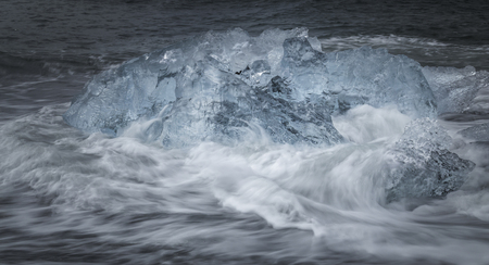 glacial: Glacial ice at Jokulsarlon, Iceland