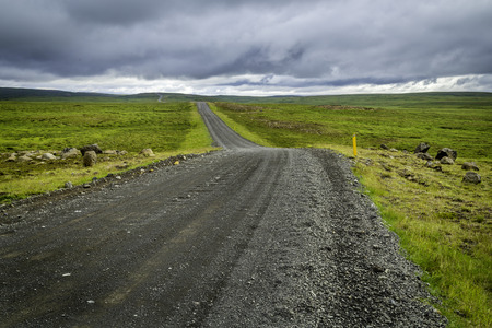 A gravel road to the interior in north Iceland photo