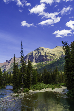A beautiful mountain and stream bed in Montana Stock Photo