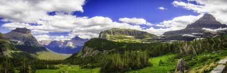 Glacier National Park in summer Stock Photo