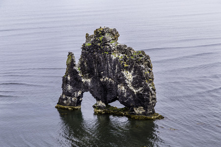 troll: A rock in Iceland said to be a petrified troll Stock Photo