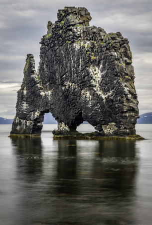 petrified: A rock in Iceland said to be a petrified troll Stock Photo