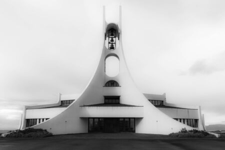 lutheran: A large Lutheran church in west Iceland