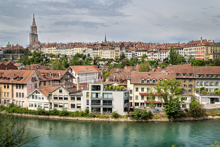 canton berne: A classic view of the historic central area of Bern