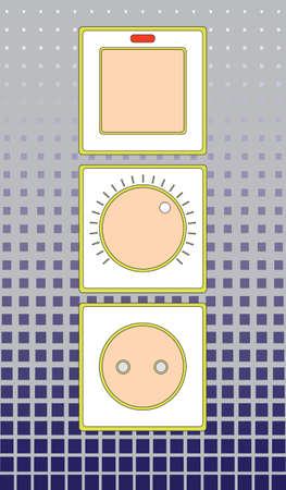 regulator: socket with a switch and voltage regulator