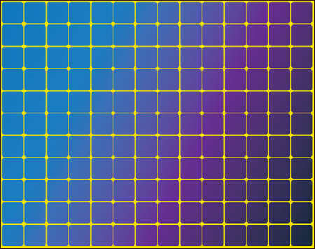 Solar panels on a yellow background  Vector