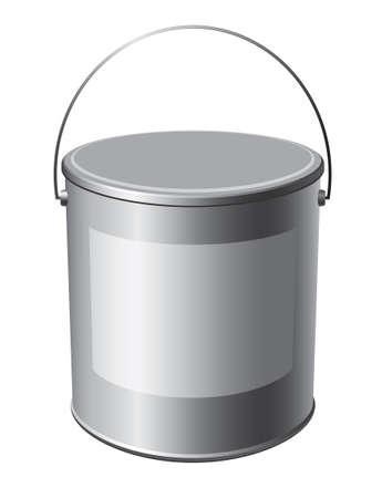 버킷: 흰색 배경에 페인트의 이미지 버킷