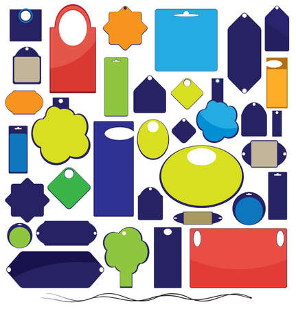 Set of labels, tags, stickers  Vector template Vector