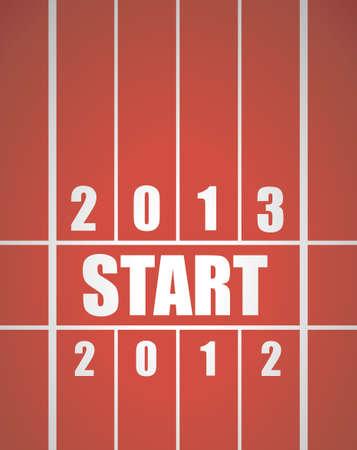 running track: Nieuwe start 2013 concept met atletiekbaan