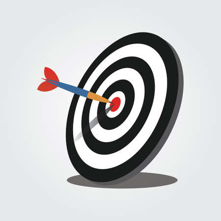 piercing: Archery Target with Piercing Dart Illustration