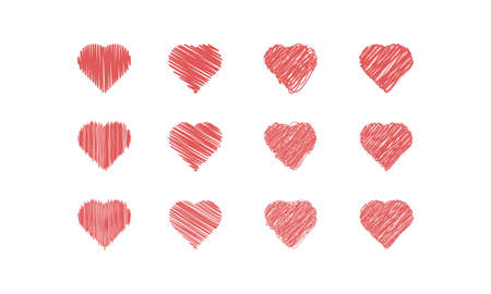 scribble: Scribble Hearts Icon Set