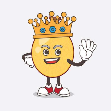 A picture of honeydew cartoon mascot character stylized of King on cartoon mascot design Illusztráció
