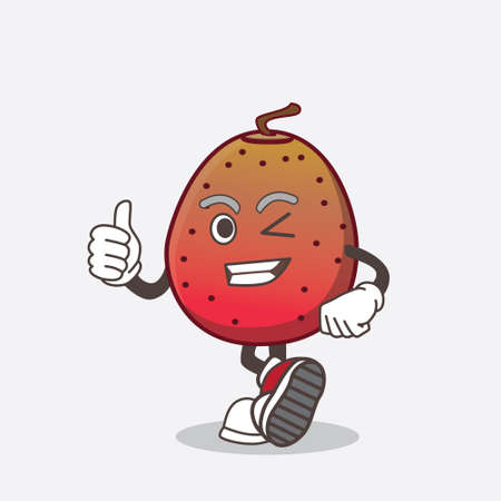 A picture of Indian Fig cartoon mascot character making Thumbs up gesture