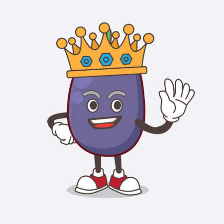A picture of Java Plum cartoon mascot character stylized of King on cartoon mascot design