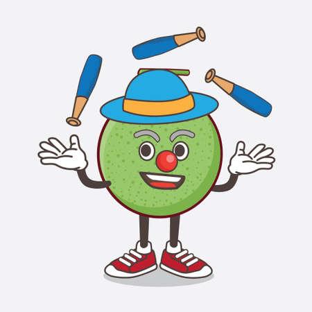 An illustration of Melon Fruit cartoon mascot character play Juggling Vetores