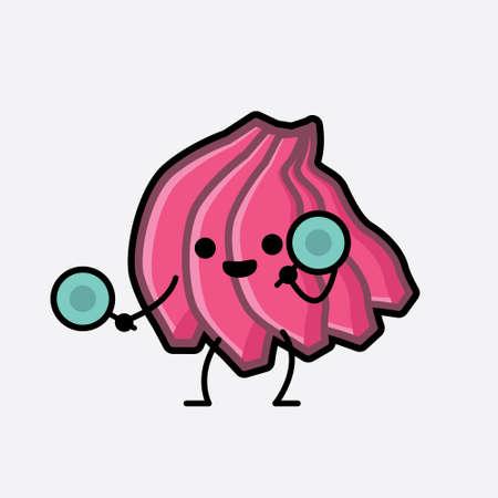 An illustration of Cute Pink Banana Character Vector