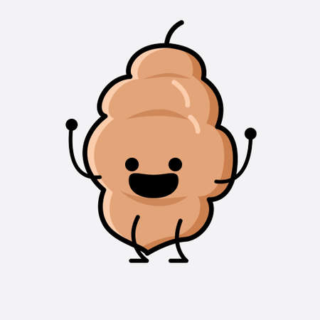 An illustration of Cute Tamarind Fruit Mascot Vector Character