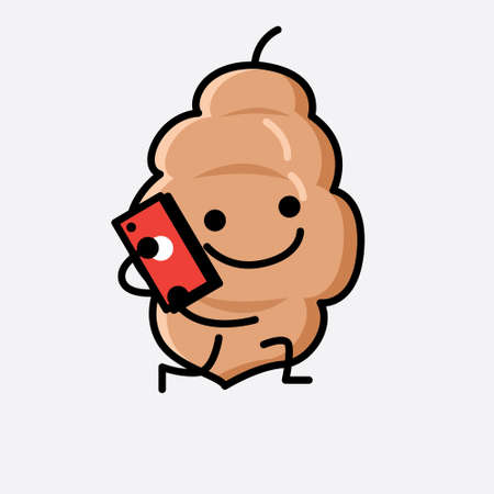 An illustration of Cute Tamarind Fruit Mascot Vector Character