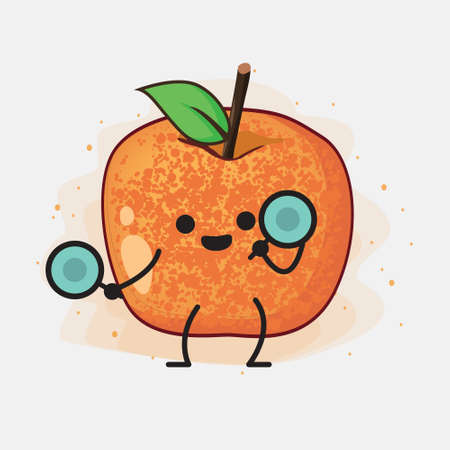 An illustration of Pluot Fruit Vector Character