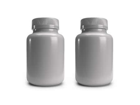 Medicine Bottle Jar 3D Illustration Mockup Scene on Isolated Background