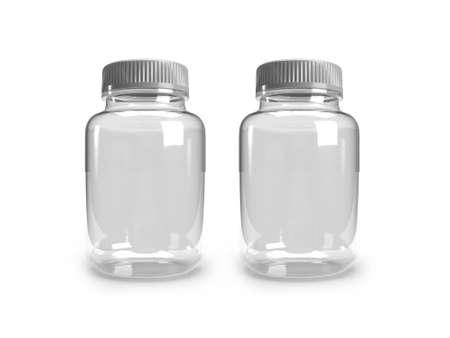 Medicine Bottle 3D Illustration Mockup Scene on Isolated Background