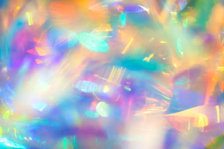 Abstract night club party poster background image of multicolored psychedelic reflections with aqua purple and yellow bright gleaming bokeh light effect and dynamic motion blur Reklamní fotografie