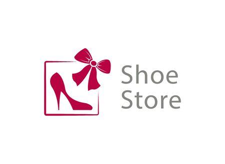 shoe store: Logo for the shoe store Illustration