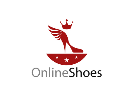 simple store: Simple logo for womens shoe store