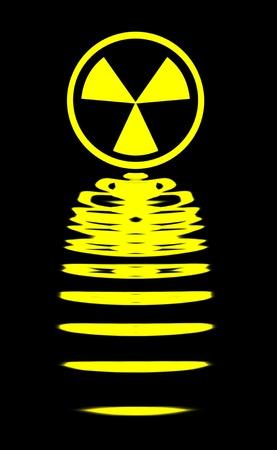 Radiation Wave Stock Photo