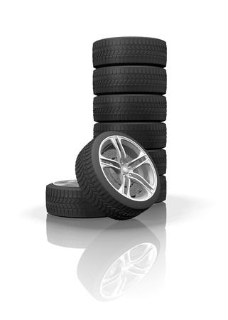Wheels 3D-scene