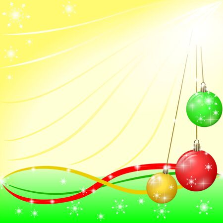 christmas background with color decorations