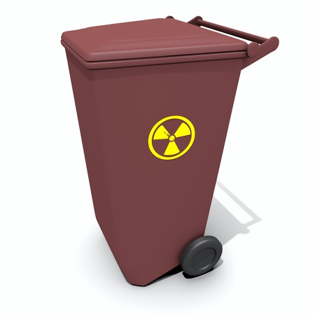 warez: isolated recycle container with radiation sign