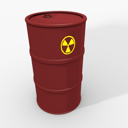 nuclear waste: nuclear waste barrel Stock Photo