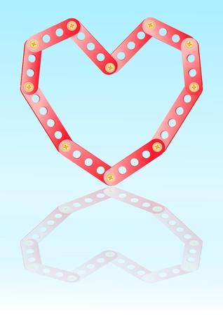 constructing: metal constructing heart Illustration