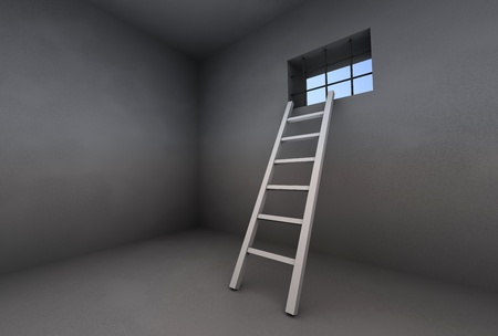 Parison, ladder, window Stock Photo - 12742579