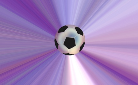 soccerball: Soccerball over abstract background Stock Photo
