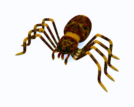 3d spider on the white background Stock Photo - 12742608