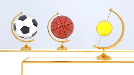 Abstract sport balls background photo