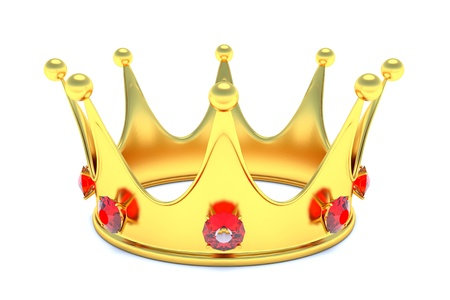 monarchy: Gold crown with red gems
