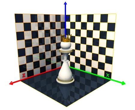 Axes of the coordinates, chess queen Stock Photo - 14252143