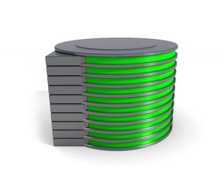 disco duro icono de la unidad Foto de archivo