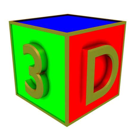 3d colour boxes Stock Photo - 14386845