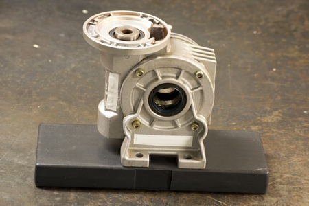 greasing: Gearbox reductor Stock Photo