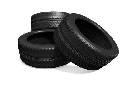 car wheels on the white background photo
