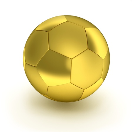 Gold Soccer ball  on the white background