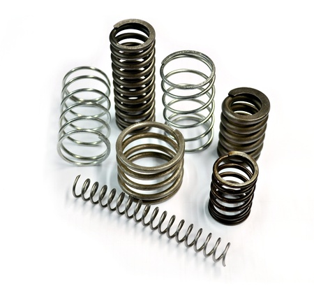 dampen: metal spring on the white background