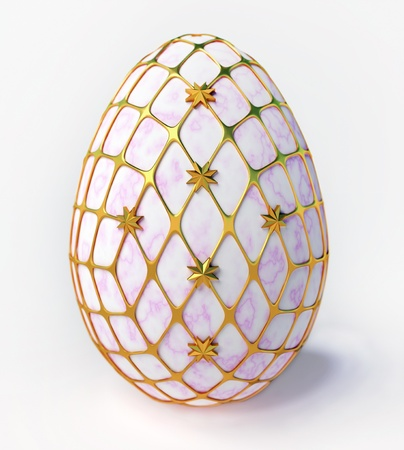 Easter - marble egg in gold incrustation photo