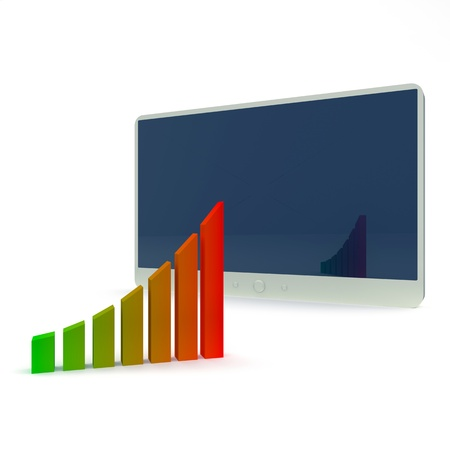 Abstract business concept Chart and tablet pc photo