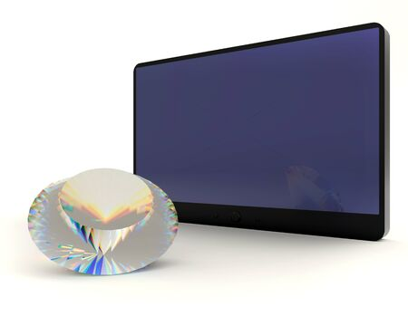 Diamond and tablet pc - Abstract business concept photo