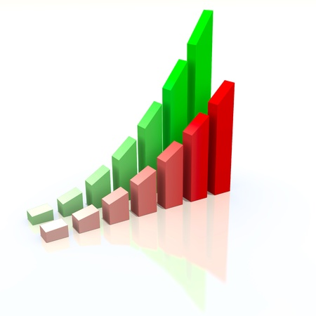 Abstract chart with increasing measures of success, business concept photo